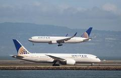 United Air shares slip amid 2016 year-end results