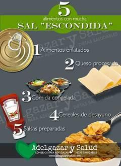 Alimentos con sal escondida que son una trampa -