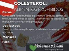 Alimentos prohibidos para el colesterol -