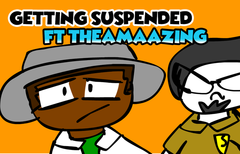 GETTING SUSPENDED! (Ft TheAmaazing ) - A Prof Beetle boy Animation