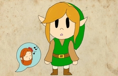 Link's Awakening Animation-Link and Marin