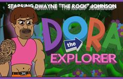 """Dora the Explorer starring Dwayne """"The Rock"""" Johnson"""