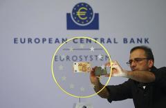 Gloomy data shoves euro lower ahead of ECB meeting