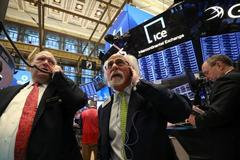Wall Street edges higher as upbeat earnings dampened by trade,...